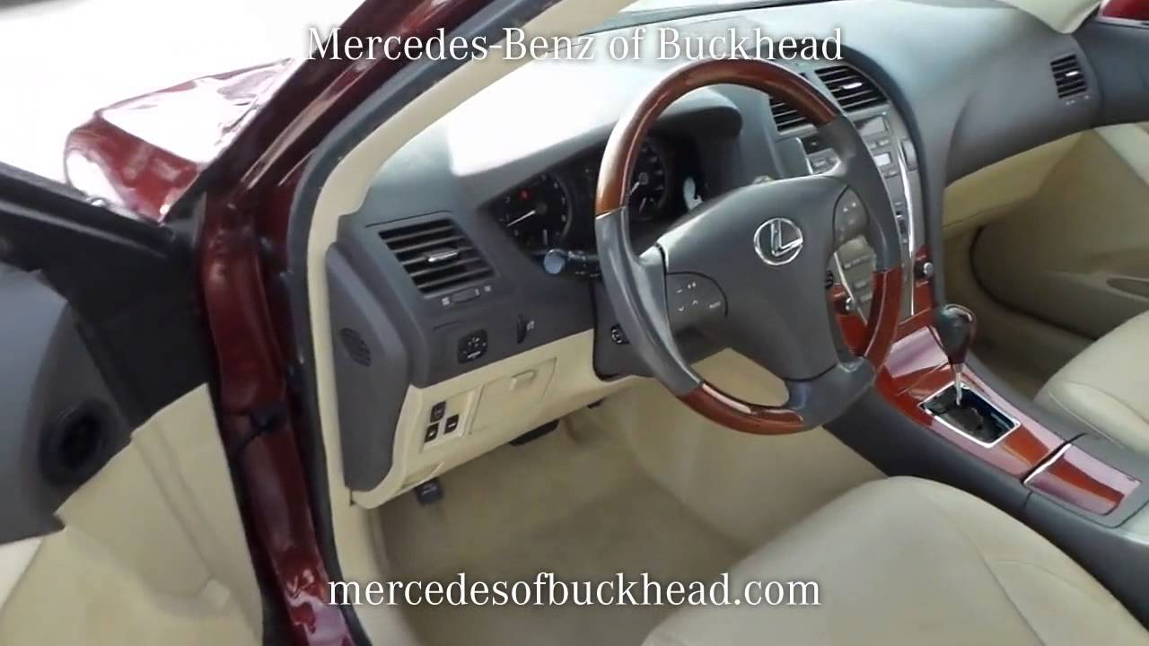 Sold used 2008 lexus es350 at mercedes benz of buckhead for Mercedes benz of buckhead