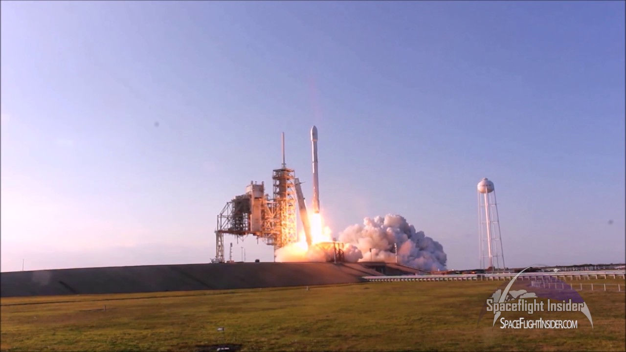 flight proven spacex falcon 9 launches with ses 10 satellite
