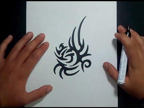 Como dibujar un tribal paso a paso 118 how to draw one for Dibujar un mueble en 3d