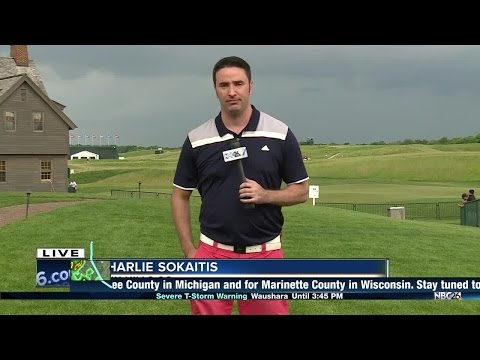 Thumbnail: Severe weather forces golfers, fans off U.S. Open course