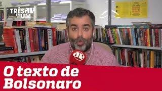 #CarlosAndreazza: Destrinchando a cartinha de Jair Bolsonaro