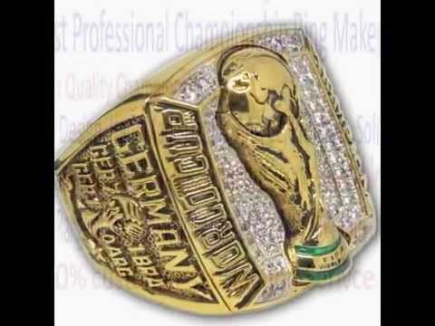 2014 World Cup Champions Ring, FIFA 2014 Germany Football Brazil 20th World Cup Championship Ring