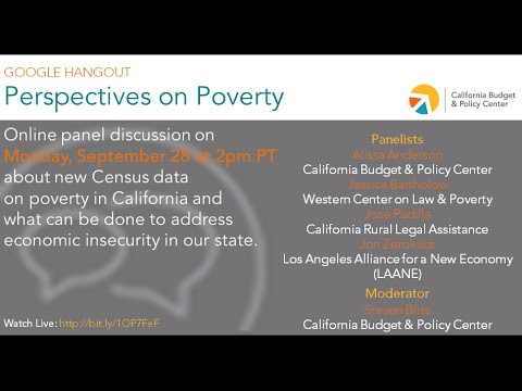 Webinar: Perspectives on Poverty