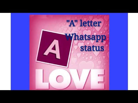 """A"" letter whatsapp status female song 