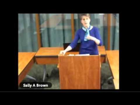 Webinar with Sally Brown April 1st, 2015