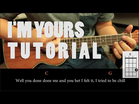 Jason Mraz - I'm Yours UKULELE Tutorial ( Fácil )