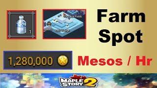 1,200,000+ Mesos / Hour ~Farm Spot~ in Maplestory 2 (Potion Solvent Farming & Tips in Maplestory 2)