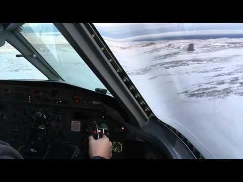 Landing Salluit, QC. / CYZG / RWY 03 / Dash-8-100