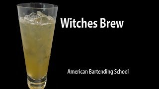 Witches Brew Halloween Cocktail Drink Recipe