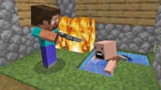 LITTLE HEROBRINE VS CHILD NOTCH in Minecraft By Scooby Craft