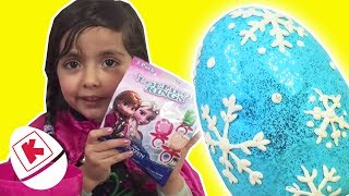 Princess Anna Has a GIANT Play Doh Surprise Egg - Princesses In Real Life | WildBrain Kiddyzuzaa