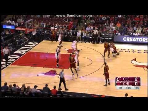 Jonathan Holmes 3-pointer - Chicago Bulls vs. Cleveland Cavaliers - NBA Preseason - 14/10/2016