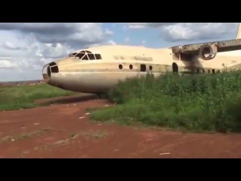 South Sudan: remnants of an Iraqi plane near Wau