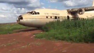 South Sudan: remnants of an Iraqi plane near Wau