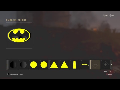 Gerps4call Of Duty Ww2 Emblem Editor Batman Youtube