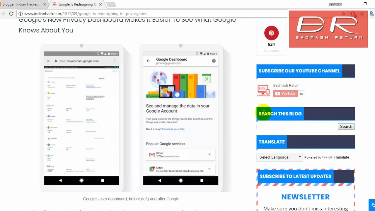 Google s dashboard redesign simplifies your privacy tools security dashboard google news