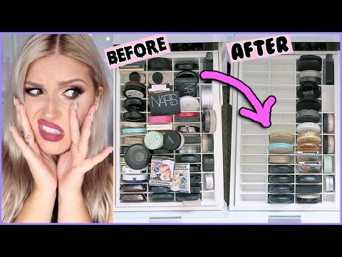 Powder & Bronzer  🔪 ORGANIZE AND DECLUTTER MY MAKEUP COLLECTION! 😏