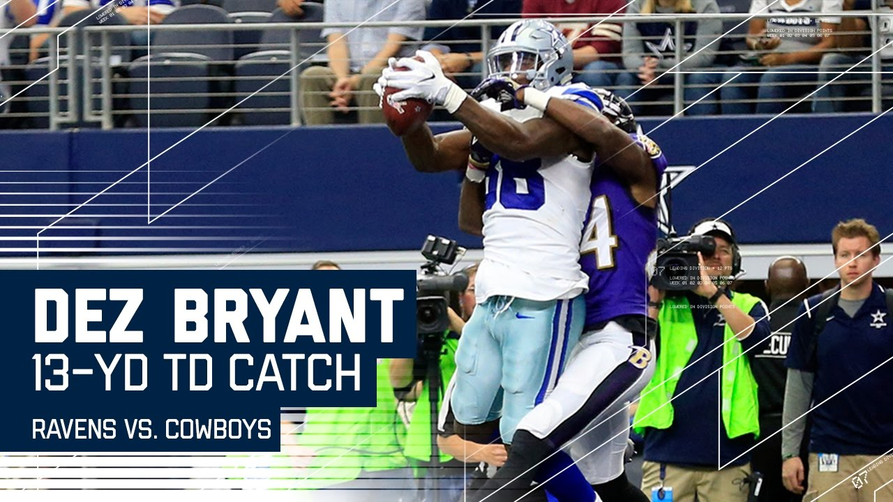 Ezekiel Elliott S Huge Hurdle Sets Up A Td Pass From Dak To Dez Ravens Vs Cowboys Nfl