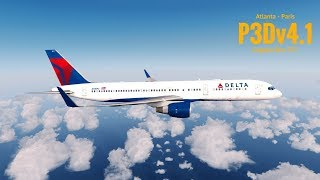 [P3Dv4.1] CAPTAIN SIM 757 | Atlanta (KATL) - Paris (LFPG) | DELTA AIRLINES | VATSIM