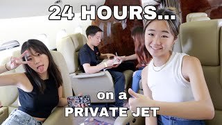 WE STAYED 24 HOURS IN A PRIVATE JET!!!!!