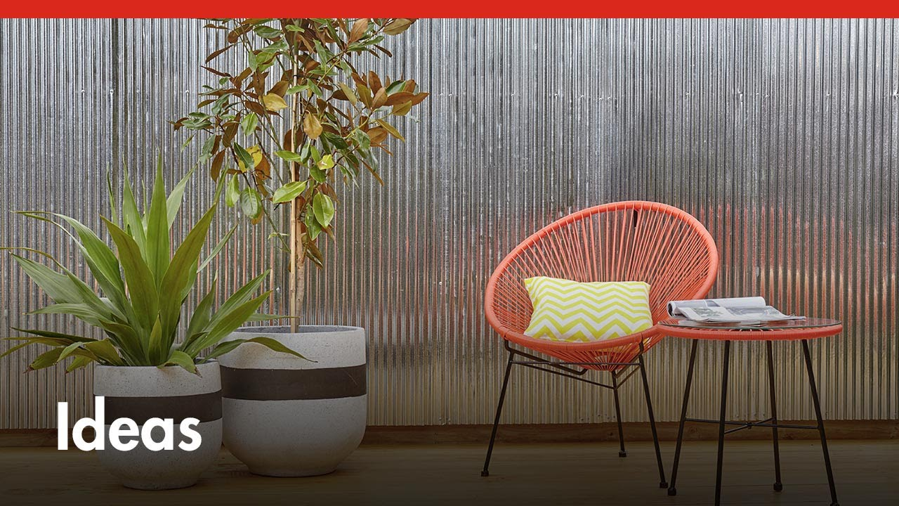 D I Y Corrugated Iron Feature Wall D I Y At Bunnings