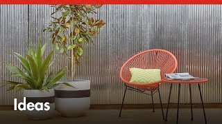D.I.Y. Corrugated Iron Feature Wall - D.I.Y. At Bunnings