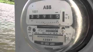 ABB kilowatthour meter near Pierre - S Dakota