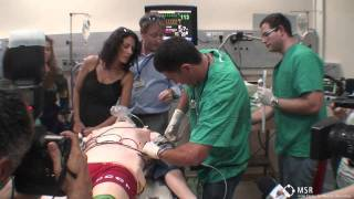 "Simulation of Trauma Management at MSR for the ""House M.D."" Cast"
