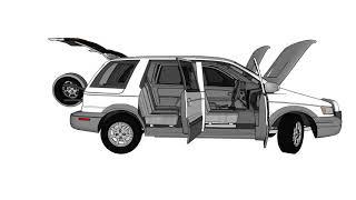 1995~1996 Hyundai Santamo(PLUS) 3D Model 실내