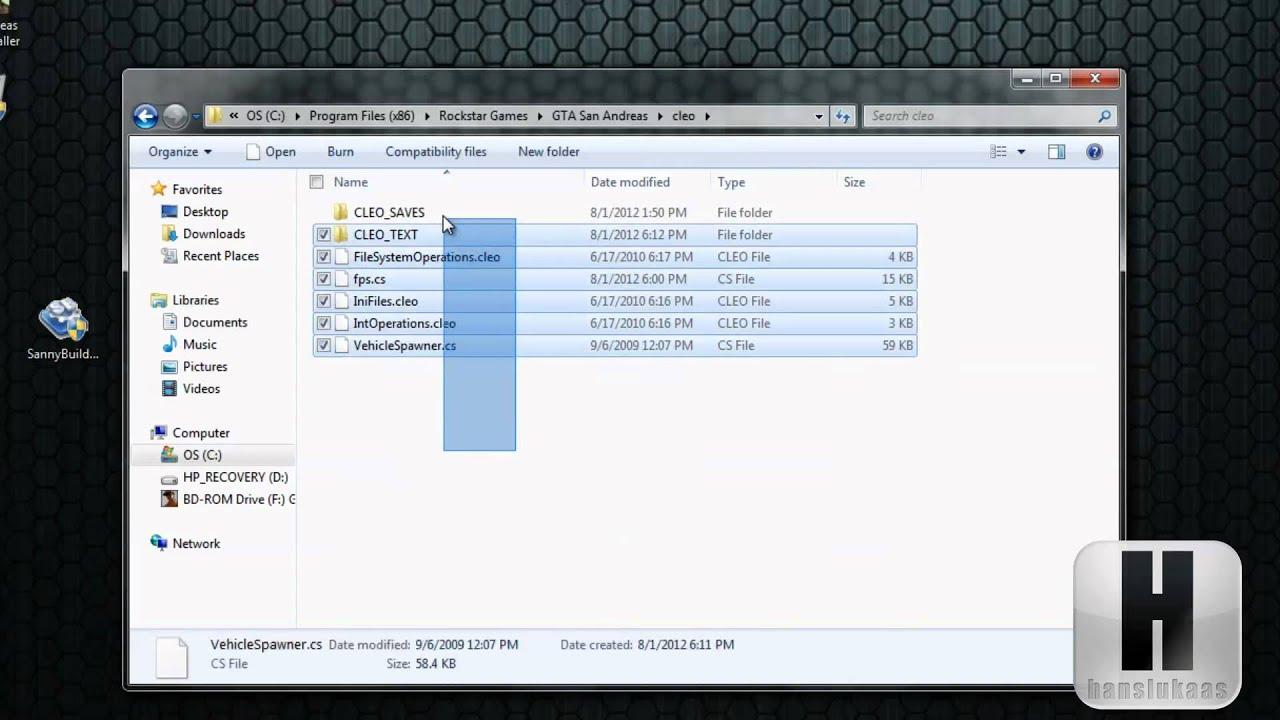 Скачать файл cleo для гта сан андреас