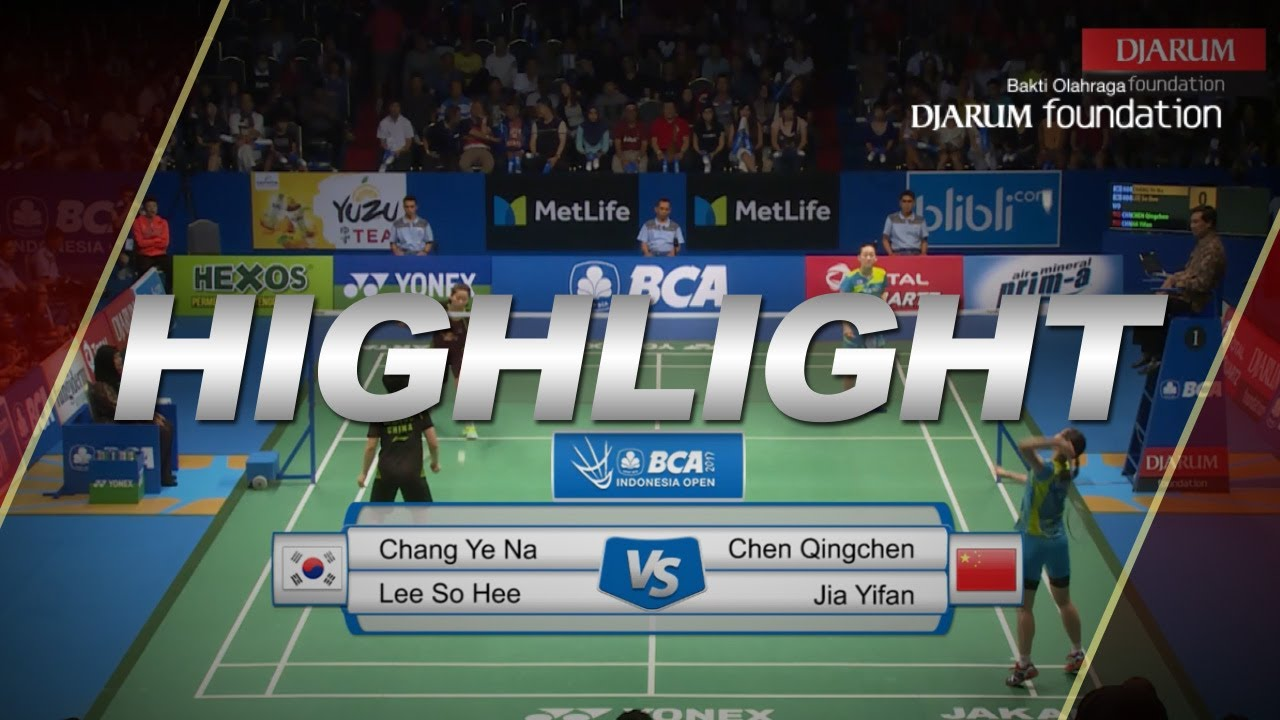 Chang Ye Na Lee So Hee KOR VS Chen Qingchen Jia Yifan CHN
