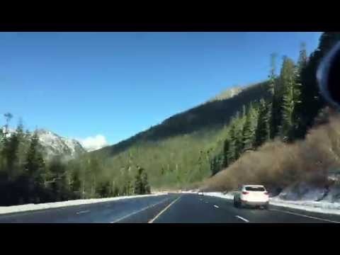 Driving in Washington state: Stevens Pass to Leavenworth