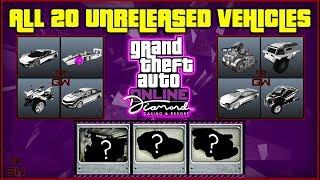 All Casino Heist UNRELEASED DLC vehicles & RELEASE order (Hidden Drip fed cars) GTA 5 Online 2019