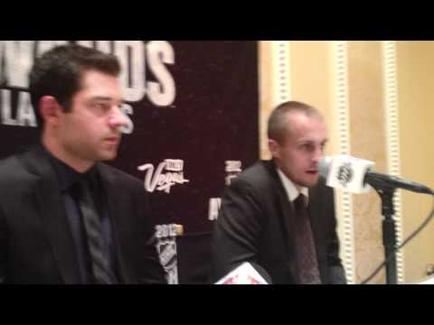 2012 NHL Awards - Brian Elliott & Jaroslav Halak - William Jennings Trophy Press Conference