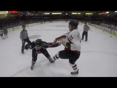 What does a hockey fight look like to a linesman? We found out