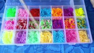 Набор резинок для вязания браслетов Rainbow Loom Чемодан на 5300 шт. Обзор от mixstile.ru