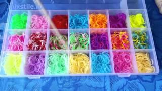 Набор резинок для вязания браслетов Rainbow Loom Чемодан на 5300 шт. Обзор от mixstile.ru