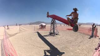 Super spinny see-saw thing at Burning Man 2012