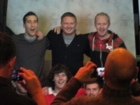 MANCHESTER UNITED LEGENDS GARY PALLISTER AND DAVID MAY FORUM THEATRE WATERFORD JAN 20TH 2013