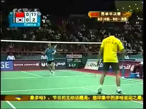 2006 Doha Asian Games Badminton MS Semi Final - Lin Dan [CHN] Vs Lee Hyun il [KRO]
