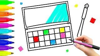 Maquillaje Sombra De Ojos Dibujo Y Color Para Niños Enseñanza Cómo Pintar Con Marcadores De Colores Youtube