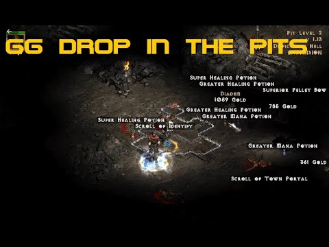 Diablo 2 Magic Finding in The Pits - GG Drop and Plugy Disaster.  