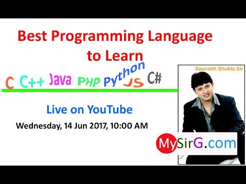 Best Programming Language to Learn | LIVE