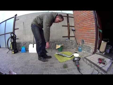 Полировка нержавейки выхлопные трубы хром