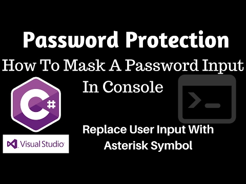 C#: How To Replace Letters With Asterisks In Console - Password Protection