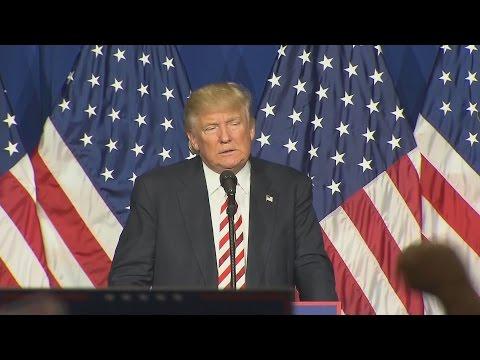 Trump talks tough in Ohio