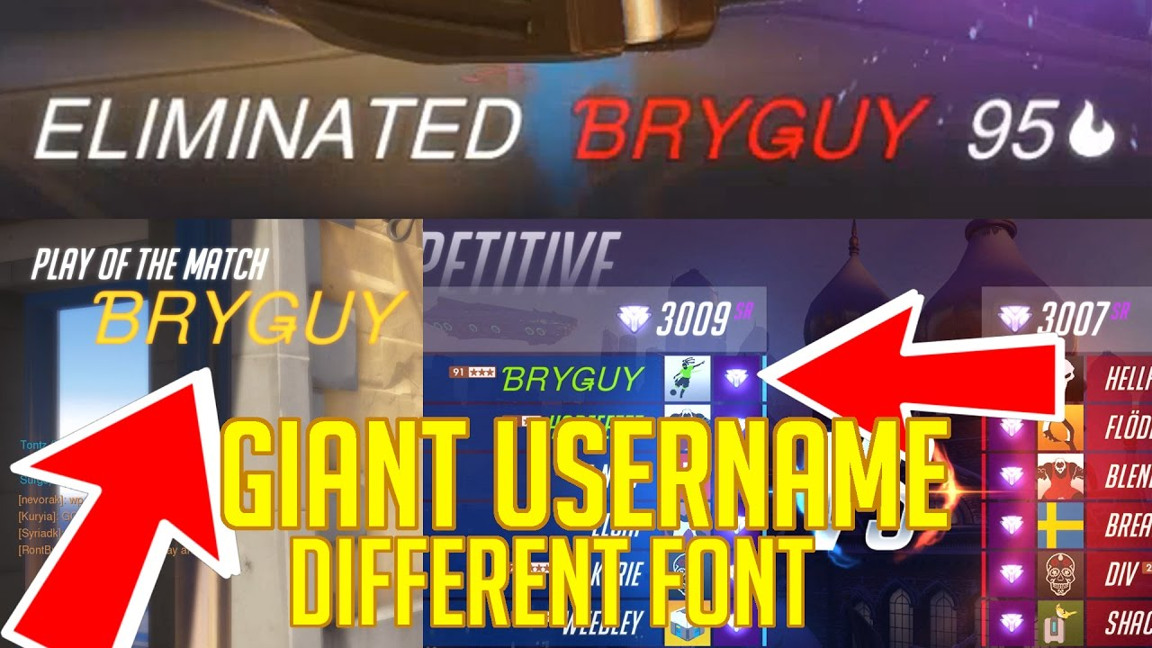 Asian font / Large username in Overwatch (battle net)