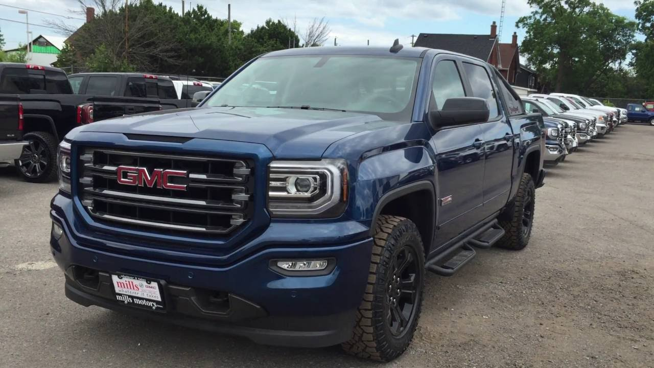 2016 Gmc Sierra 1500 Slt Crew Cab 4wd All Terrain X Stone Blue Metallic Oshawa On Stock 161196 You