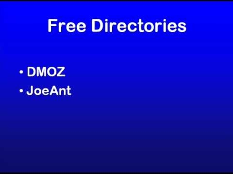 SEO Education 101 - Free Directories