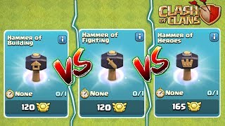 HAMMER OF HERO VS FIGHTING VS SPELL, WHAT TO CHOOSE, CLASH OF CLANS INDIA.